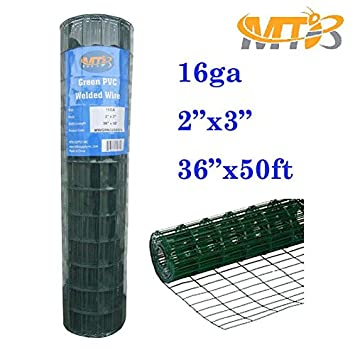 Amazon.com : MTB Green PVC Welded Wire Mesh Garden Economy Fence 36 ...