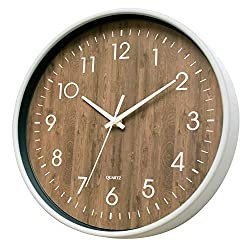 12 Inch Silent Non Ticking Quartz Wall Clock - for Kitchen, Living Room, Office, Classroom