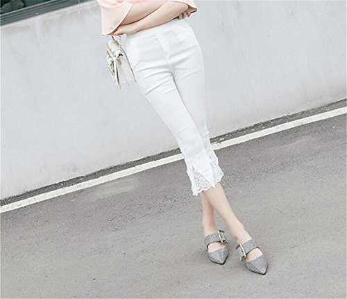 Shoes Mules Toe Plus Size Women Silver Woman Slip Slippers Pointed Slides MOREMOO Shoes on TUqxS5wUE