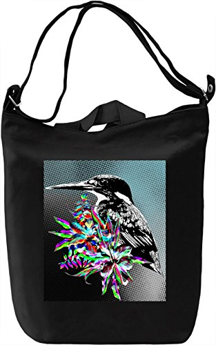 Kingfisher Illustration Borsa Giornaliera Canvas Canvas Day Bag| 100% Premium Cotton Canvas| DTG Printing|