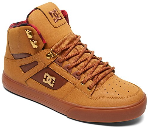 DC Shoes Mens Spartan High WC WNT Hi Top Shoes Wheat Brown 9