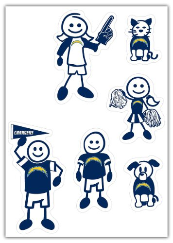 (NFL San Diego Chargers Small Family Decal Set)