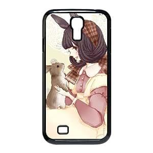 Love Bunny Samsung Galaxy S4 Case Protector for Girls, Samsung Galaxy S4 Case [Black]