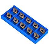 10pcs CNC Diamond Shape Carbide Insert Cutters for Regular Stainless Steel Machine Lathe Milling Tool External Threading with Box