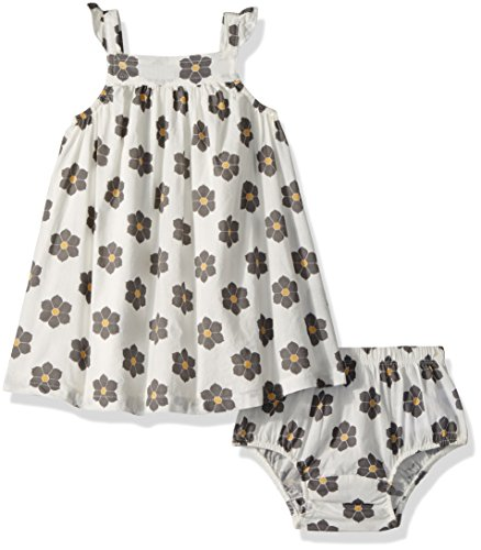 (Robeez Girls' Toddler Dress with Diaper Cover, Floral White, 18 Months)