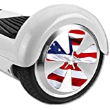 MightySkins Protective Vinyl Skin Decal for Hover Balance Board Scooter Wheels mini board unicycle bluetooth wrap cover sticker American Flag