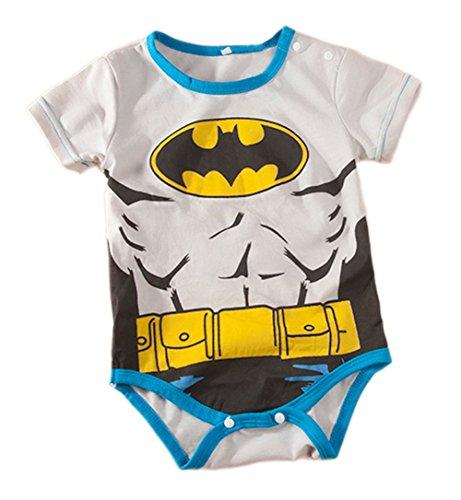[Stylesilove Super Heroes Baby Boy Costume Jumsuit (18-24 Months, Grey Batman)] (18 Month Superhero Costumes)