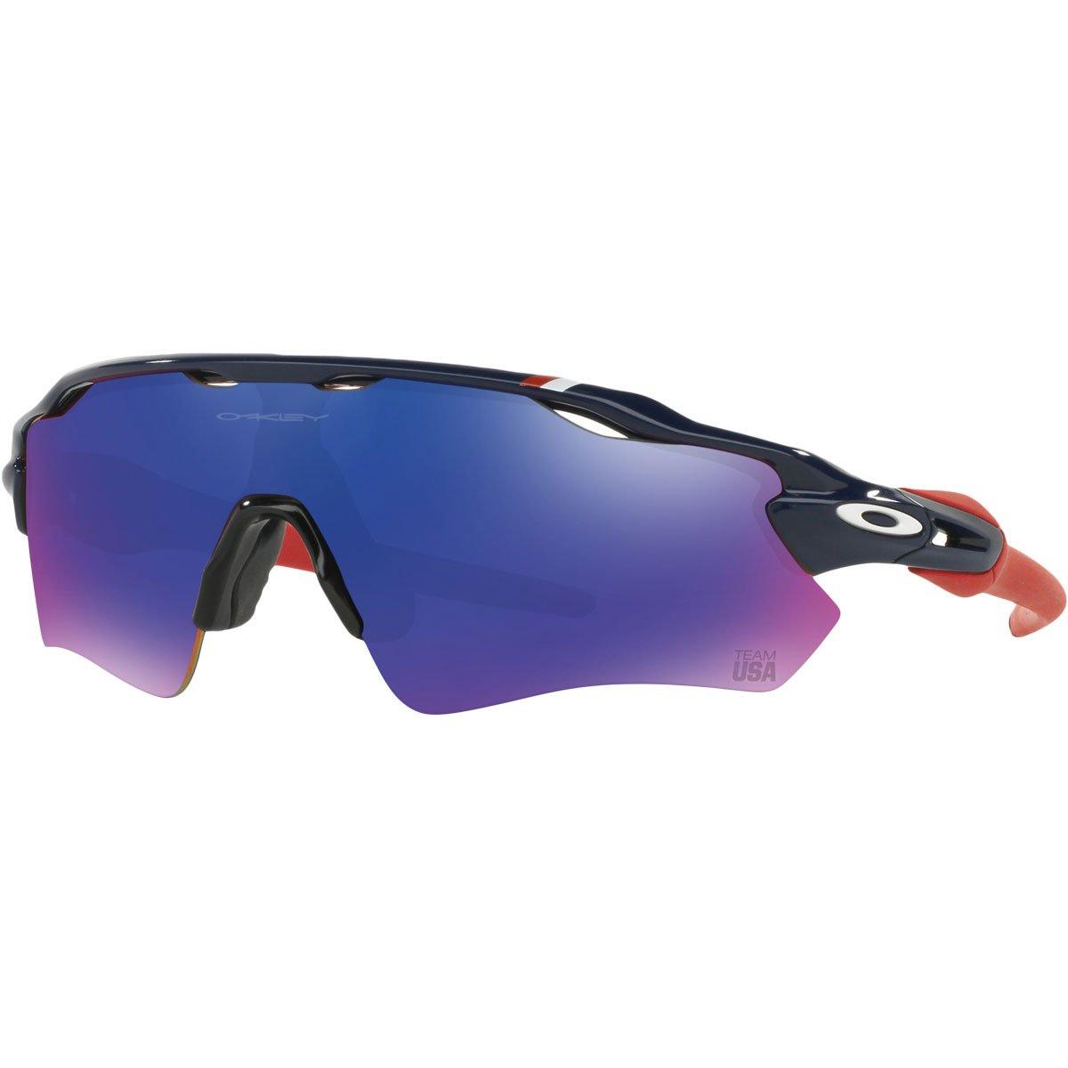 Oakley Men's Radar EV Path OO9208-14 Non-Polarized Iridium Shield Sunglasses, Dark Blue, 138 mm