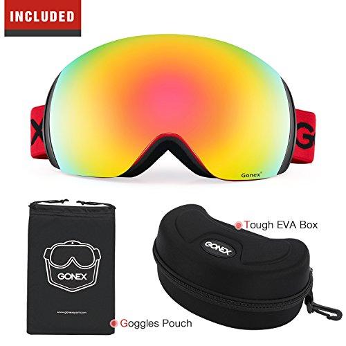 polarized ski goggles jmtd  Gonex Polarized Ski Goggles OTG Anti-fog Snow Snowboard Goggles for Adult  Men or Women, Colored Lens
