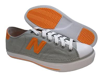 New Balance Women's WCPT Lifestyle Court Fashion Sneaker,Grey/Orange,7 D US
