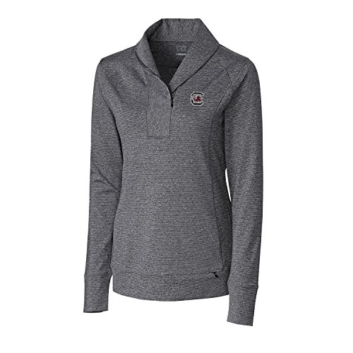 NCAA South Carolina Fighting Gamecocks Women's Shoreline Half Zip Jacket, X-Large, Charcoal (South Carolina Womens Zip)
