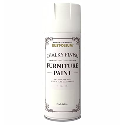 Rust Oleum Ae0525400uk Spray Paint Chalk White Amazon Co Uk Diy