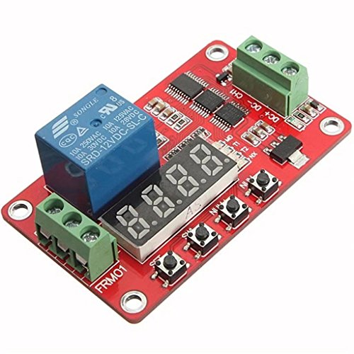 (Paddsun Newer Version 12V Multifunction Relay Cycle Timer Module - Programmable with Customized Settings (Increased to 18 Modes))