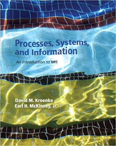 Processes systems and information an introduction to mis david m processes systems and information an introduction to mis 1st edition by david m kroenke fandeluxe Choice Image