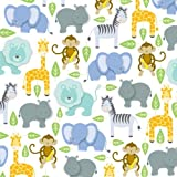 """Zoo Animals Gift Wrapping Paper Roll 24"""" X 16'"""