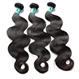 Msbeauty Hair 10A Brazilian Virgin Hair Body Wave 3 Bundles 24 26 28 inch Unprocessed Virgin Human Hair Weave Body Wave Hair Extensions