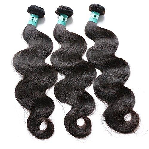 Msbeauty 10A Brazilian Virgin Hair 3 Bundles 22 24 26 inch Body Wave Virgin Human Hair Bundles Unprocessed Brazilian Virgin Hair Natural Color by msbeauty
