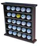 DisplayGifts Golf Ball Display Cabinet, NO Door, GB25 (Mahogany)