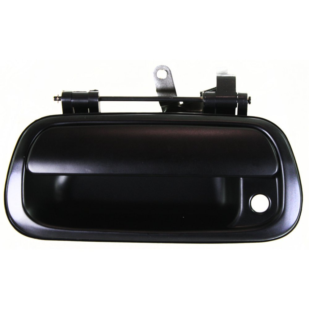 Tailgate Handle Compatible with Toyota Tundra 00-06 Smooth Black Standard//Extended Cab//Crew Pickup