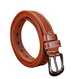 yoyorule Belts Fashion Women Lady Girls Skinny Waist Belt Thin Leather Buckle Narrow Waistband