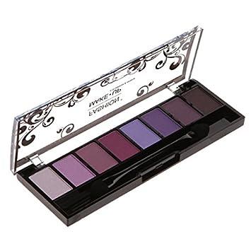Paleta maquillaje – 8 sombras sombras de ojos, tono degradado de color morado