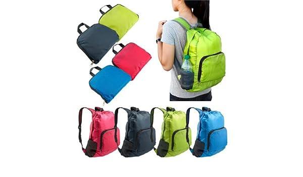 c1ea61ef42fc Amazon.com   Foldable Lightweight Waterproof Travel Backpack Hiking Bag  Outdoor Camping Sports Hiking Folding Pack   Blue   Sports   Outdoors
