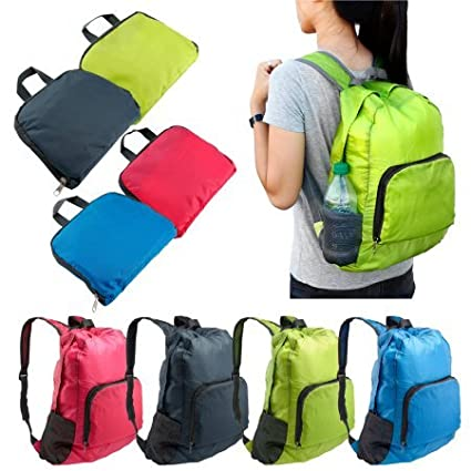 23e08e4e689d Image Unavailable. Image not available for. Color  Foldable Lightweight  Waterproof Travel Backpack Hiking Bag Outdoor Camping Sports ...
