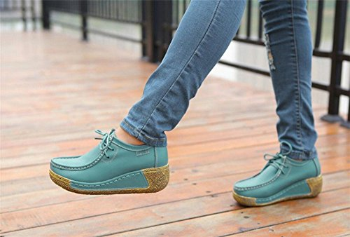 On Breathable Shoes Sneakers adil set Mesh Shoes Slip Blue Women Walking Comfort Wedge qEfC8w