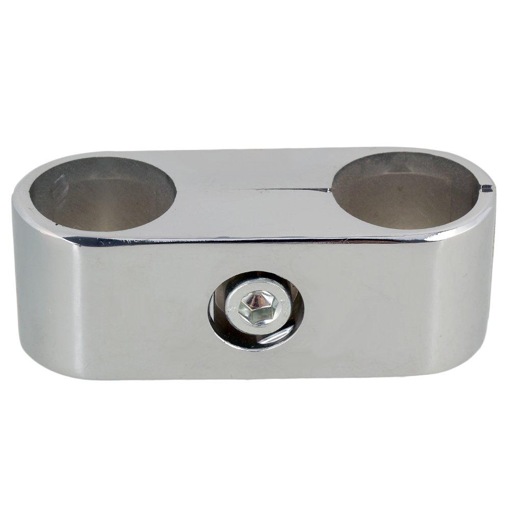 Accesorio de bastidor de almacenamiento estante de plata 2/agujeros tubo conector para 25/mm tubo abrazadera