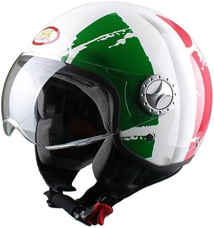 Amazon.es: BHR 49840 Demi-Jet Casco, Bandera Italia, Talla L, 59 ...