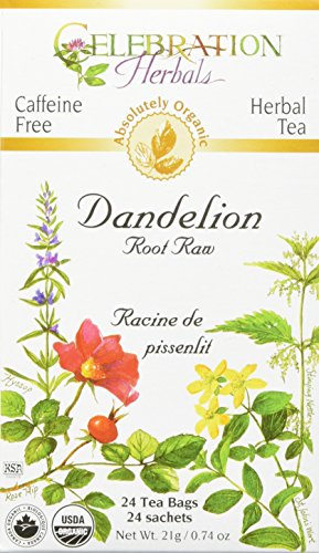 Tea Dandelion Root Raw Organic, 24 Count ()