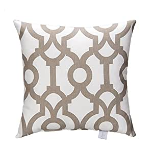 Sweet Potato Soho Pillow, Fretwork Print
