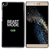 Beast Mode Exercise Rogan Black Text Designed Hard Plastic Protective Case King Case For HUAWEI P8
