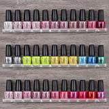 MAKARTT Nail Polish Organizer for 33-45 Bottles, 3 Tier Wall Mount Nail Holder Display Acrylic Makeup Tools Organizer and Sturdy Essential Oil Case