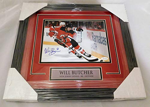 Will Butcher SIGNED/AUTOGRAPHED and Framed New Jersey Devils 8x10 Photo (B) JSA COA