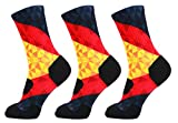 LIN 3 Pack Print Socks Cushion Basketball Athletic Sports Outdoor Socks One Size Fit Most German Flag Socks