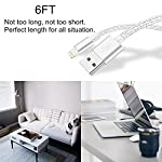 Lightning Cable TUUBEE Nylon Braided iPhone Charger Cable Cord 5Pack 6FT Long iPhone Data Cable Wire USB Fast Charging…