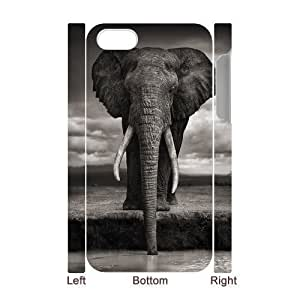 3D Bumper Plastic Case Of Elephant customized case For iPhone 5 5s