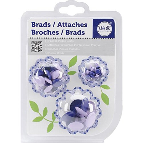 We R Memory Keepers 54/Pack Brad, Purple