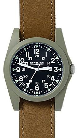Bertucci 13366 Unisex Polycarbonat braun Leder Band Schwarz Zifferblatt Smart Watch