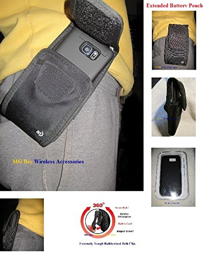 Puregear Horizontal Soft Case - Nite Ize Black Vertical/Horizontal Extended Wide Cargo XX-large Heavy Duty Rugged Holster Pouch W/Swivel 360 Rotating Belt Clip Fits Samsung Galaxy Note 2/3/4/5 W/UAG/Hybrid Cover Case On Cellphone