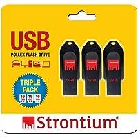 Strontium 16GB USB Pollex-Pack of 3