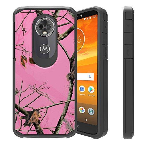 (Untouchble   Camo Case for Moto E5 Play, Motorola Moto E5 Cruise Camo Case [Shock Bumper Case] Hybrid Shell, Hard Plastic Exterior, TPU Interior Skin - Pink Tree Camo)