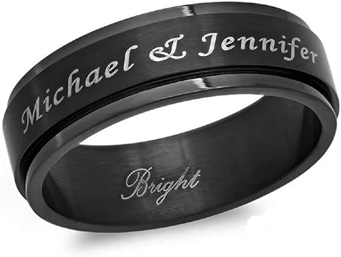 Forevergifts Free Engraving Both Sides Personalized Stainless
