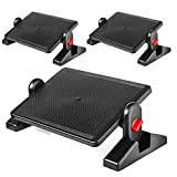 Under Desk Foot Rest, Black Footstool & Office Ergonomic Footrest, Adjustable Angle & 2 Different Height Positions 16.3'' X 11.8'' - Great for Home & Work - 3 Pack
