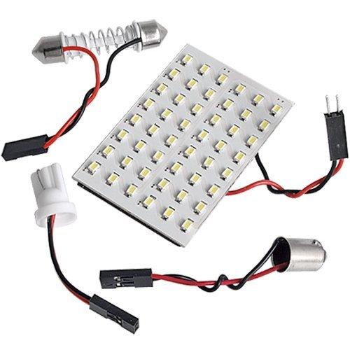 Sonline 5X Panneau 3528 SMD 48 LEDs Blanc 12V + 5X Adaptateur Dome