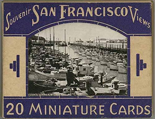 San Francisco - Miniature Souvenir Black & White Postcard Mailing Packet - 1937