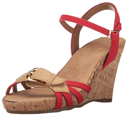 Aerosoles Womens Plush Around Wedge Sandal