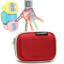Navitech Red Water Resistant, Child Resistant, Hard Case Cover For The LeapFrog LeapBand