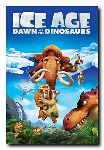 Ice Age Movie Poster 24x36 Inch Wall Art Portrait Print Ready To Frame